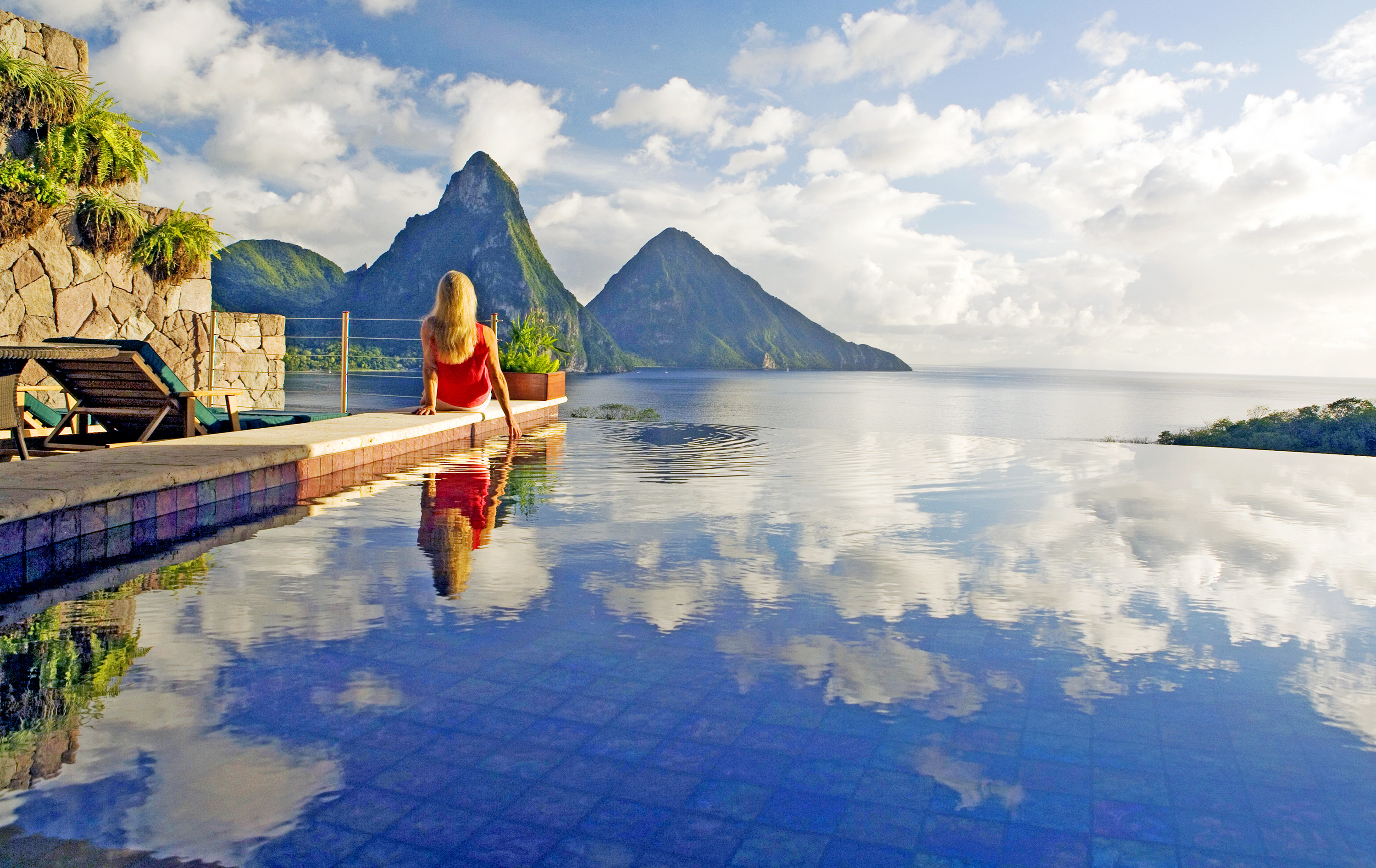 jade mountain in jetsetter's sexiest hotels in the world - jade