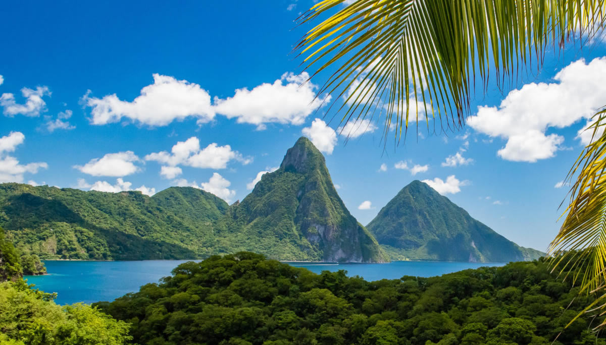 Pitons view from Jade Mountain