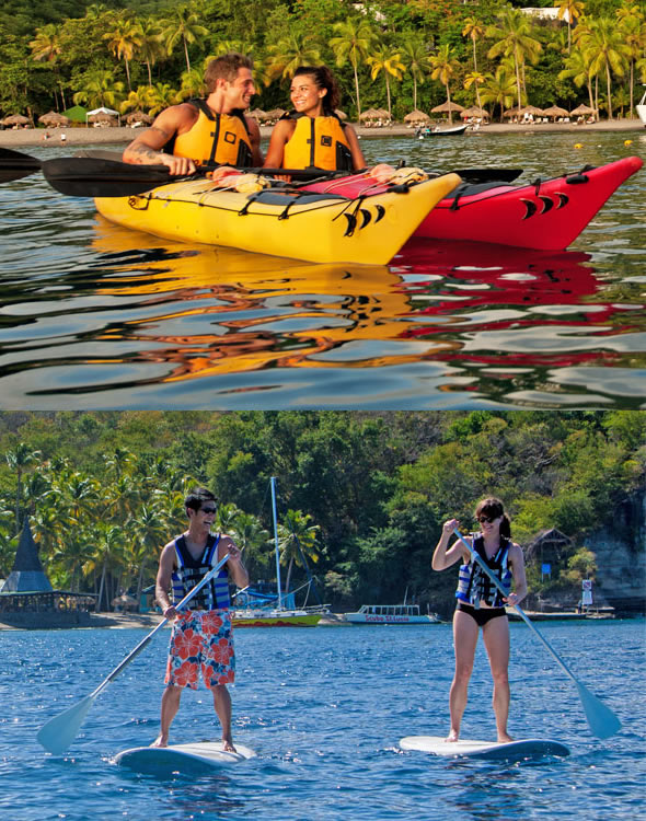 Kayaking and paddleboarding