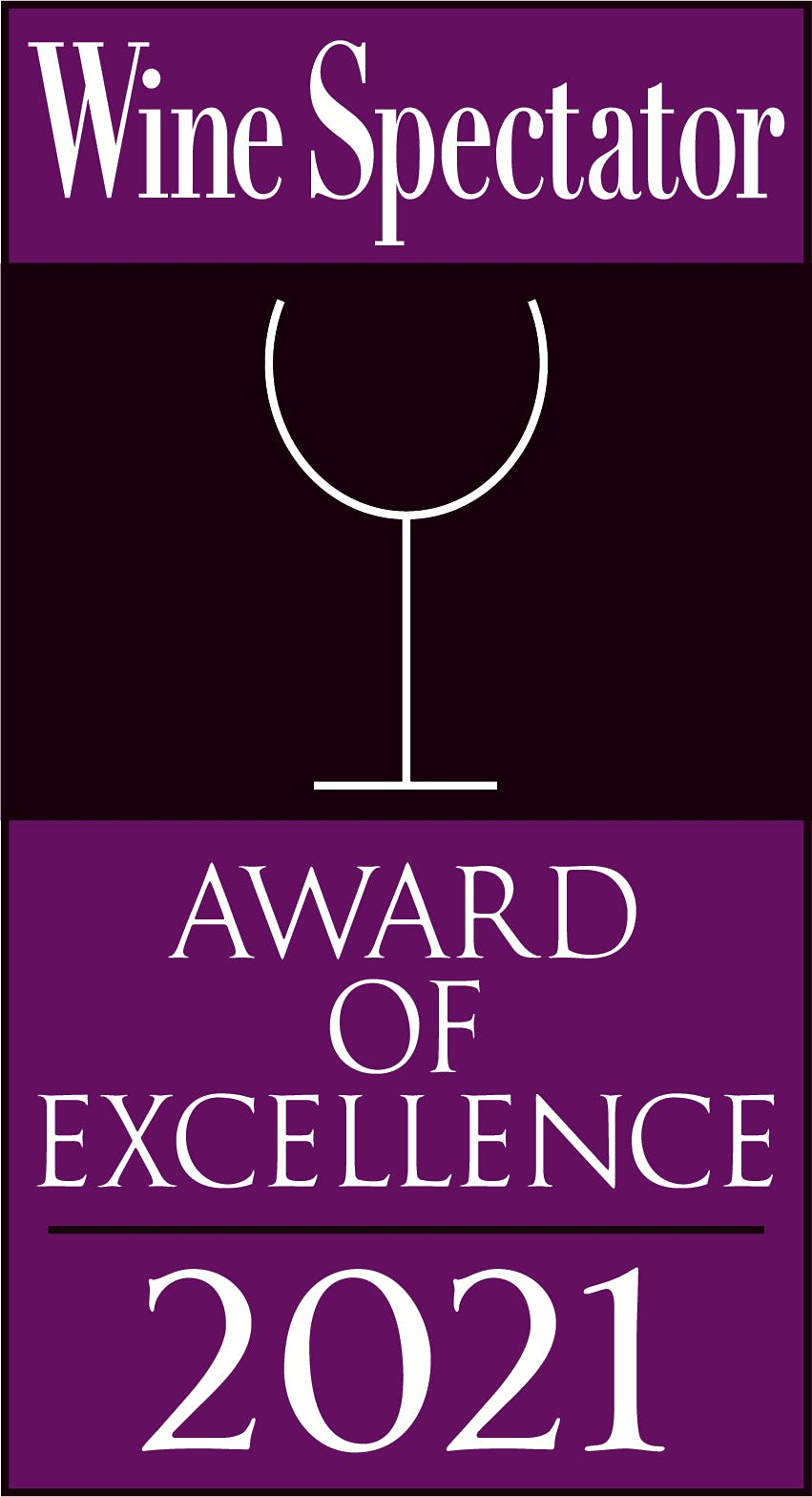 Wine Spectator Award of Excellence 2021