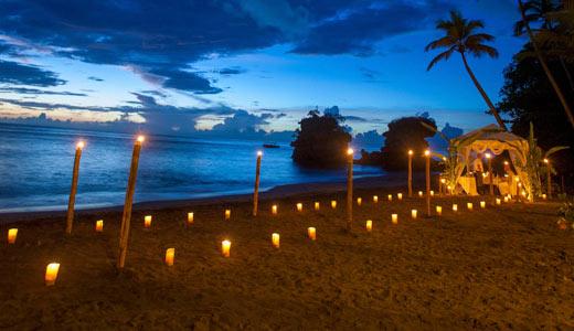 castaway Dinner at Anse Mamin Beach