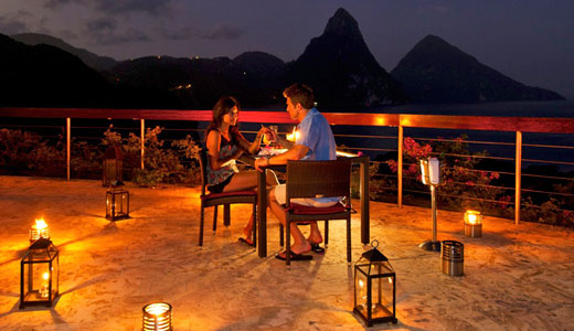 Dining on Celestial Terrace at Jade Mountain
