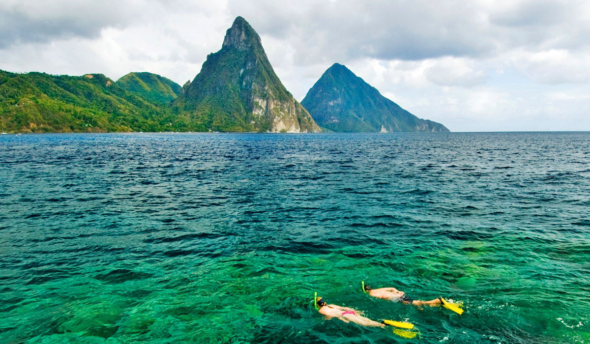 Snorkeling at Jade Mountain