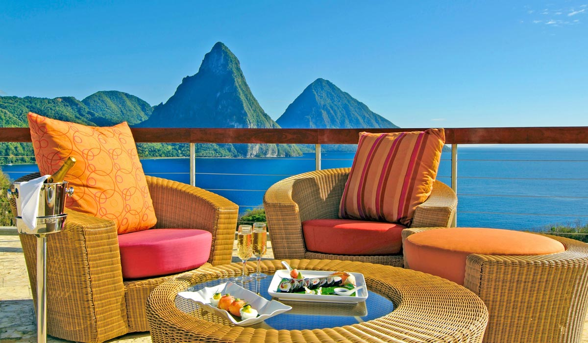 Private Dining on Celestial Terrace at Jade Mountain