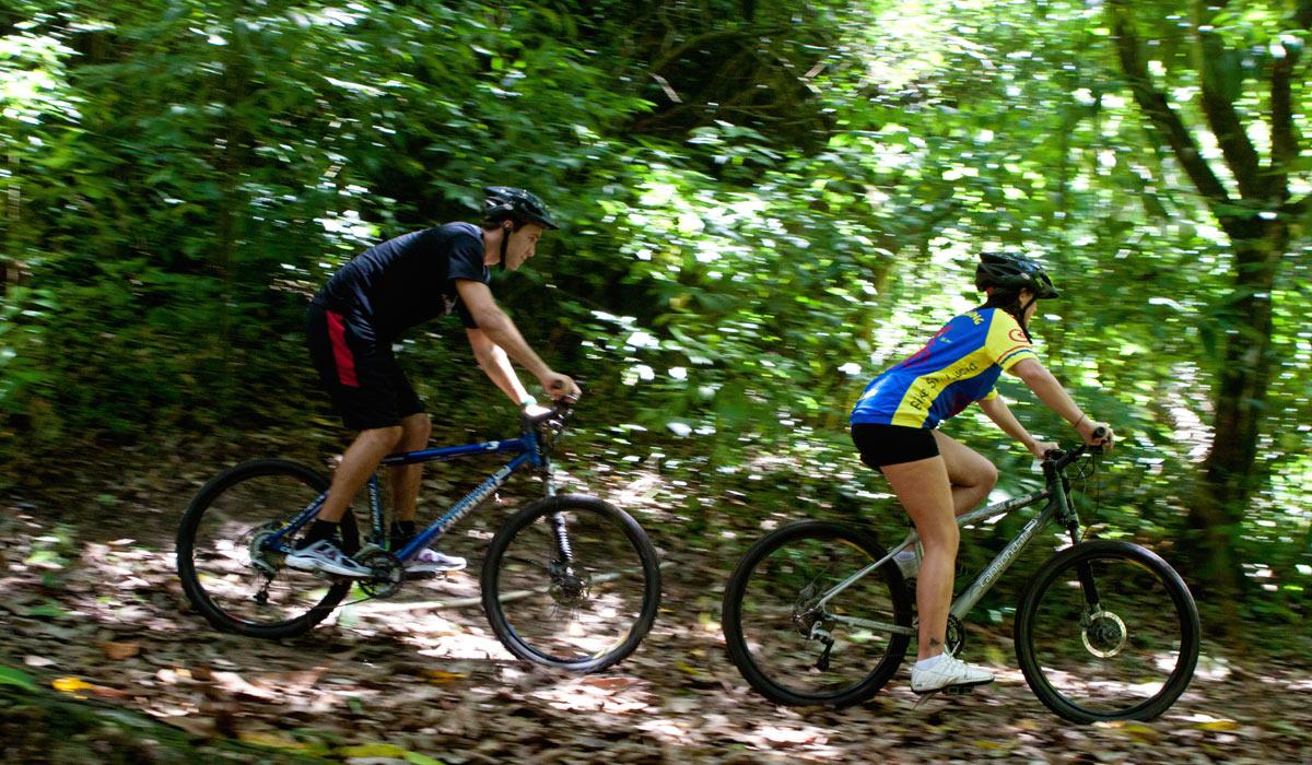 Jungle Biking at Anse Mamin