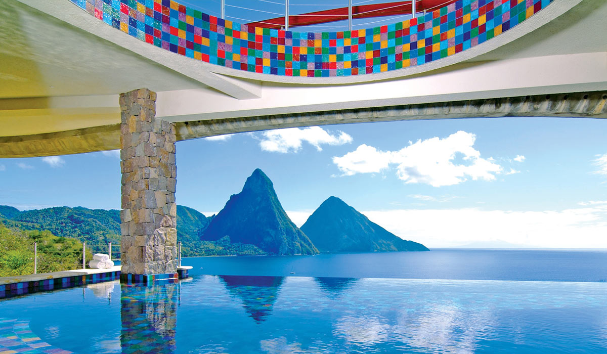 Jade Club Infinity Pool Reserve Jade Mountain