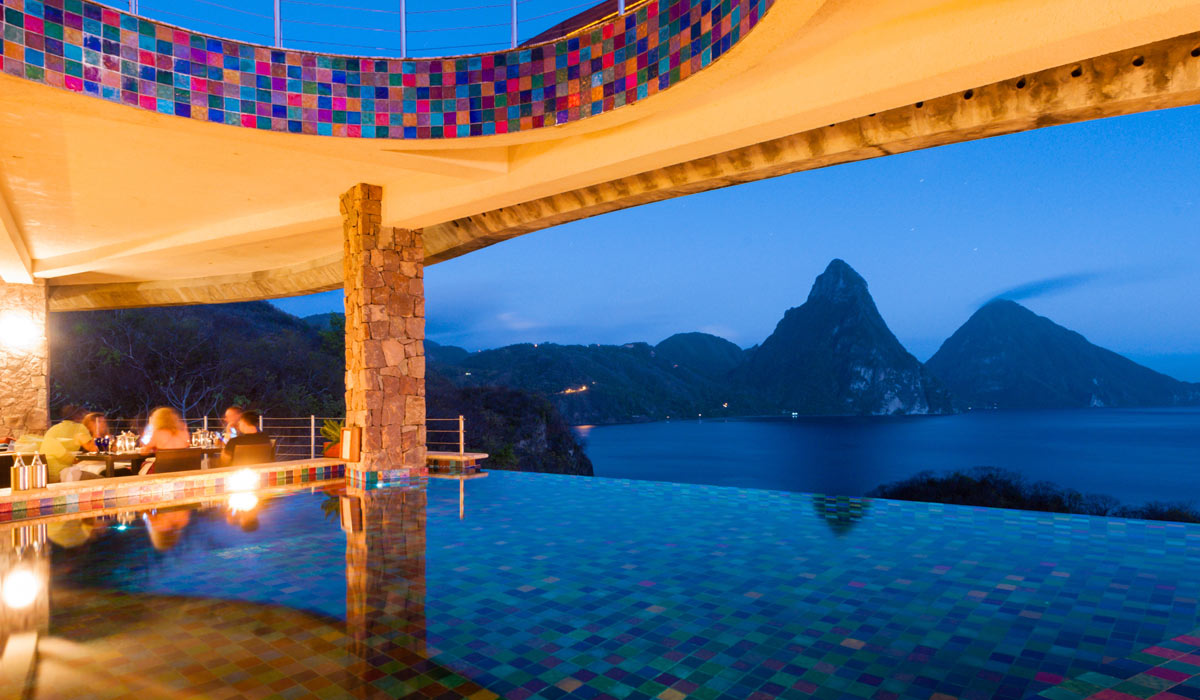 Jade Club Evening View Jade Mountain