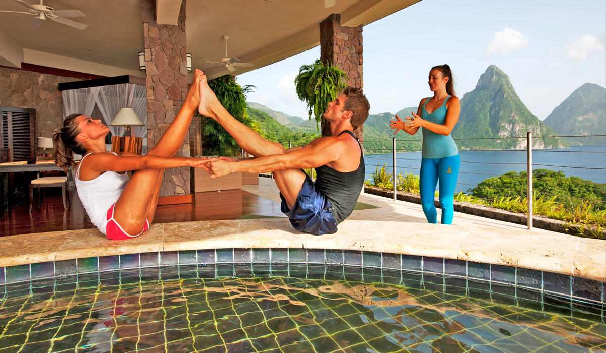 Yoga at Jade Mountain St Lucia