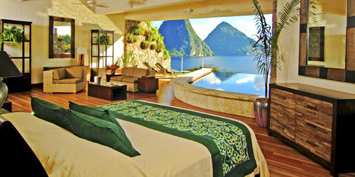 Jade Mountain in room view