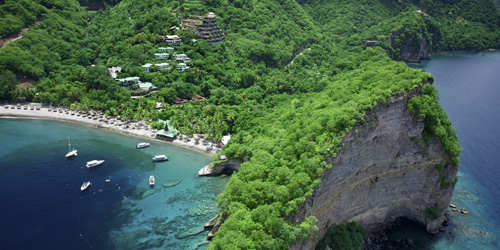 Aerial view of Jade Mountain and Anse Chastanet