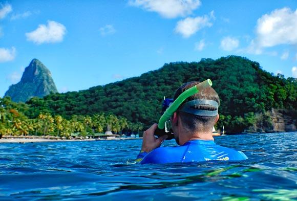 Snorkeling at Jade Mountain