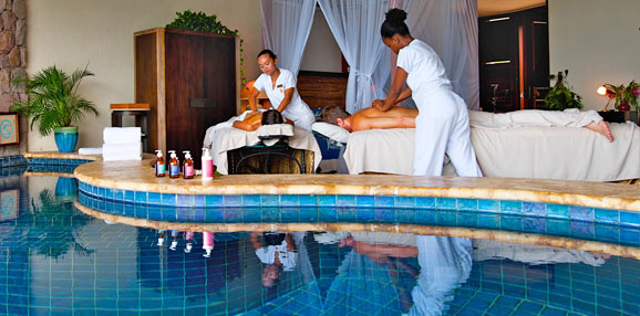 The spa at jade mountain romantic luxury st lucia resort for Spa vacations for couples