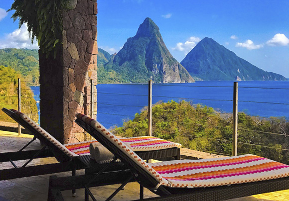 Sky Suite at Jade Mountain